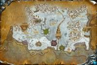 Northrend mapa - world of warcraft